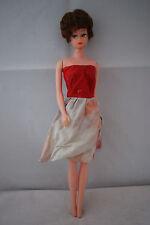 teenage Barbie clone doll brunette bubble hair cat eyes 60's