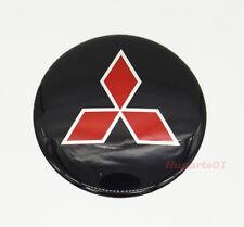1Pcs 65mm Car Wheel Center Cap Emblem Sticker Badge Logo for Mitsubishi Black