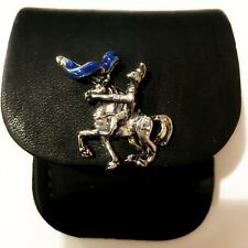 More details for new blue knight law enforcement black leather zippo lighter case pouch