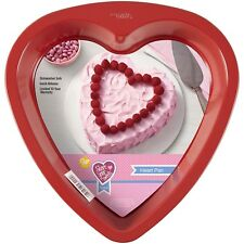 Wilton Heart Bake Cake Pan Red