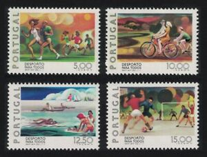 Portugal Football Swimming Cycling Sport for All 4v 1978 MNH SG#1719-1722