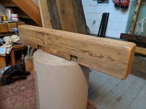 Reclaimed Pine Beam Mantle Floating Shelf