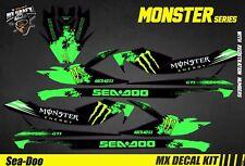 Kit Déco pour / Decal Kit for Jet Ski Sea-Doo Gti / Gtr / Gts / Wake - Monster