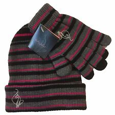 Authentic Baby Phat Knit Beanie Gloves 2 PCS SET Acrylic Women Girl Hat Beanie