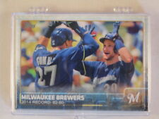 2015 Topps Series 1, 2 and Update Complete Baseball Team Set - Milwaukee Brewers