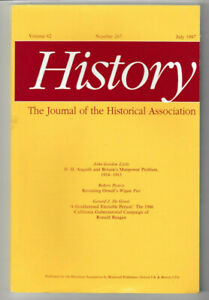History - Journal of the Historical Association #267 Vol 82 July 1997 PB