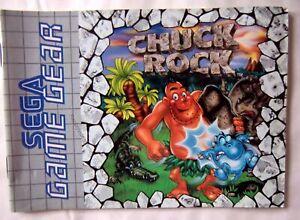 64111 Instruction Booklet - Chuck Rock - Sega Game Gear (1992) 672-0965-50
