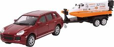 "Model Car ""Speed Set"" Porshe Cayenne & Speedboat"