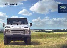Land Rover Defender 90 110 130 UK market 2014 PRESTIGE sales brochure