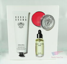 Bobbi Brown THE BOBBI GLOW SKINCARE TRIO Face Oil Lip Balm Exfoliating Mask NEW