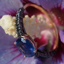 Diamant Memoire Ring Saphir 1.30 ct Diamanten schwarz GALAXY 750er Gold