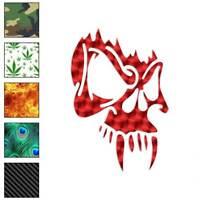 Vampire Skull Tribal Decal Sticker Choose Pattern + Size #715