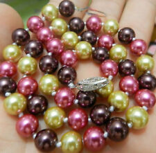 """AAA+ 8mm 18"""" south sea Multicolor shell pearl necklace"""