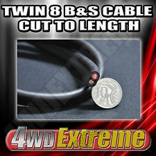 1M X 8 B&S TWIN 8MM RED BLACK CABLE CUT TO LENGTH - DUAL BATTERY INSTALLATION