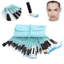 32Pcs Pro Makeup Brush Vander Blue Brush LB Set Kit Excellent + Pouch Bag New