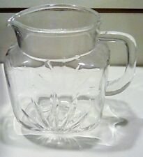 1950's Federal style square glass pitcher