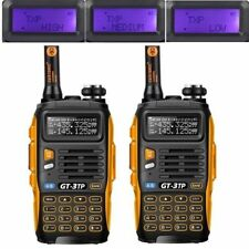 2x BF GT-3 TP MarkIII Tri-power 1/4/8W 136-174/4​​00-520MHz Talkie Walkie Radio