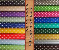 Polka Dots Spots PVC Vinyl Tablecloth Oilcloth ALL SIZES AVAILABLE by PRESTIGE