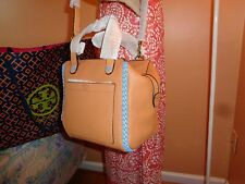 NWT TORY BURCH WHIPSTITCH Leather Mini SATCHEL $495 DUSTBAG Camello
