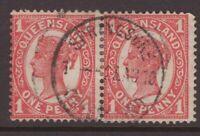 Queensland SPRINGSURE 1910 postmark on QV pair