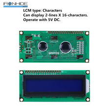 1602 LCD 16x2 HD44780 Character LCD Display Módulo LCD  blue blacklight