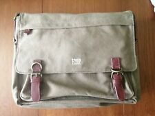 Troop London Classic Canvas Laptop Messenger Bag (Brown)