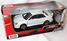 Subaru Impreza WRX STI White New in box 1-24 scale model Motor Max