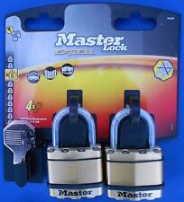 Master Lock Twin Pack M1BT Keyed Alike Masterlock Excell Cadenas nominale 8/10