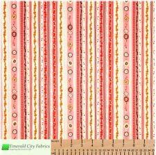 P&B Textiles Wild Thyme Stripe Pink Cotton Quilt Fabric