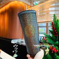 Starbucks 2020 China Black Gold Glitter Siren Studded 24oz Diamond Cup Tumbler