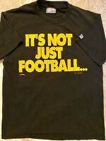 Vintage 90s-1995 NFL Pittsburgh Steelers Football Nutmeg T Shirt-Double Sided-L