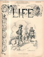 1899 Life March 16 - Black man carries Uncle Sam's burden;Dreyfus Scandal;Croker