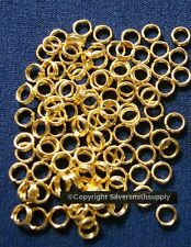 4mm Gold plated split rings jump rings 100 pcs clasp or charm attachment  fpc277