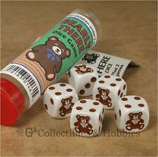 NEW Bearly There Family Teddy Bear Dice Game in Tube Travel Gaming Animal D6