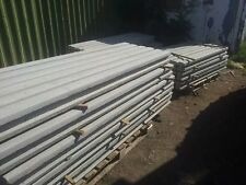 8 ft Intermediate Concrete Fence Post - MADE WITH PEBBLES / BALLAST- Top Quality