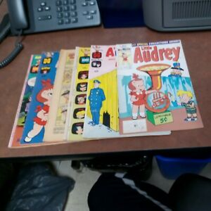 Little Audrey 1 Harvey And Melvin 28 49 51 Playful 41 116 Comics Lot Run Set...
