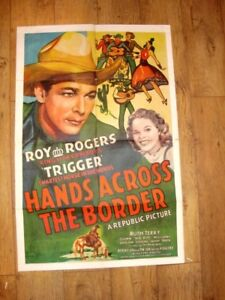 Movie Posters, Vintage - Hands Across The Border-Roy Rogers & Trigger -1944