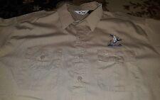 Mens 10x Shooting Hunting Button Down Shirt Long Sleeve Sz Large Duck