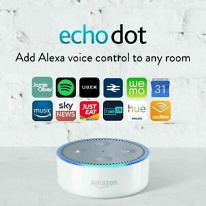 Amazon Echo Dot 2nd Generation Smart Assistant With Alexa in Black or White