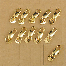 50X 18K Gold Filled Jewelry Findings Smooth Lobster Clasp Connecter Link Jewelry