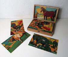 ancien puzzle Jeu de cubes en bois