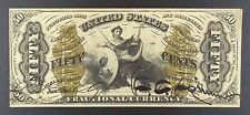 """Fr. 1355 Third Issue $0.50 Fractional Banknote, """"Justice""""."""