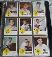 1963 FLEER Baseball COMPLETE SET of 66 + Checklist - Overall Ex/Mt - MINT