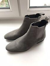 mens suede chelsea boots size 8 - Grey - Topman