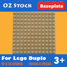 BASE PLATE 12x12 STUDS COMPATIBLE FOR LEGO DUPLO BIG BRICKS BASEPLATE COLOUR TAN