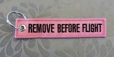 Remove Before Flight Keychain (Pink)
