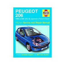 [3757] Peugeot 206 1.1 1.4 1.6 Petrol 1.9 2.0 Diesel 98-01 (S to X Reg) Haynes M