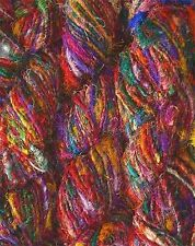 1 Quality Recycled Soft Silk Sari Knitting Crochet Woven Yarn 100 Grams.