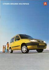 Citroen Berlingo Multispace 2000-2001 UK Market Sales Brochure 1.4 1.8 1.9D