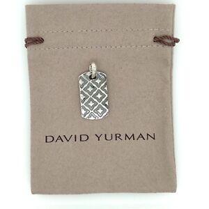David Yurman Sterling Silver Dog Tag